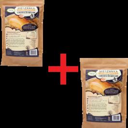 Zestaw mieszanka na chleb bezglutenowy z ziarnami 1+1